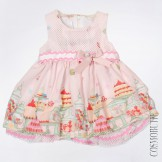 Платье с сеточкой и поясом