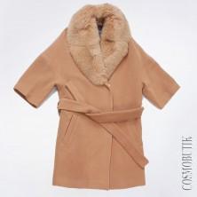Стильно пальто с мехом