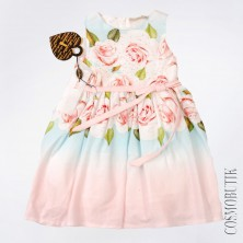 Розово-голубое платье