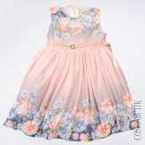 Фиолетово-розовое платье из трикотажа