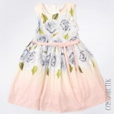 Платье с рисунком цветов и ободком