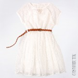 Шифоновое ажурное платье на лето