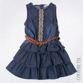 Платье из денима с пояском