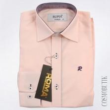 Рубашка для мальчика лососевого цвета