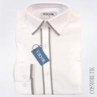 Модная рубашка для мальчика-подростка с длинным рукавом на выпускной