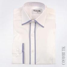 Белая рубашка для мальчика-подростка с длинным рукавом на выпускной
