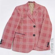 Пиджак приталенного кроя бордовый