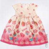 Платье с сладким принтом