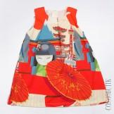 Платье с ярким азиатским принтом