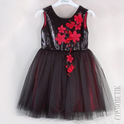 Черное платье для девочки на выпускной в детском саду