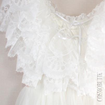 Воздушное кремовое платье в пол с цветами на поясе