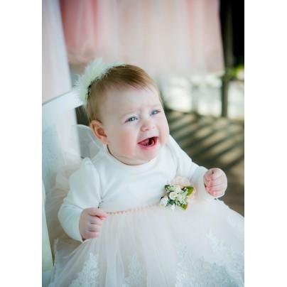 Молочное платье Miss Trendy