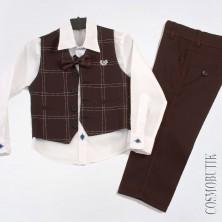 Костюм на выпускной с классическими брюками и жилетом