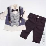 Стильный жилетный костюм для мальчика