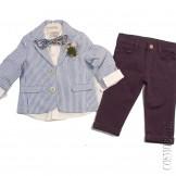 Костюм сине-голубой с пиджаком