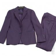 Костюм в школу из пиджака и классических брюк