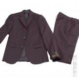 Костюм тёмно-синий в школу из пиджака и классических брюк