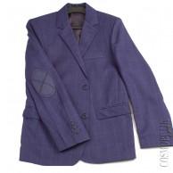 Пиджак для мальчика синий приталенный