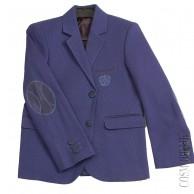 Синий пиджак приталенного кроя