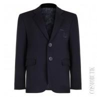 Пиджак школьный темно-синий приталенного кроя