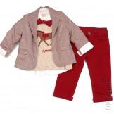 Костюм из пиджака приталенного силуэта, рубашки, джемпера, бабочки и брюк