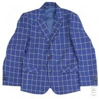 Синий пиджак классического кроя Zenmoni