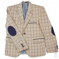 Бежевый пиджак приталенного кроя от компании Roma Kids