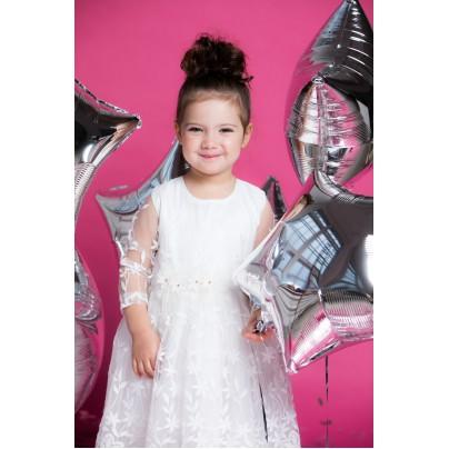 Платье нарядное для девочки молочного цвета
