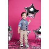 Костюм для мальчика голубой с коричневым Bebus 5219