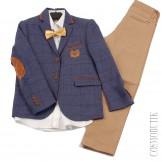 Сине-бежевый костюм Roma Kids