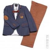 Модный костюм Roma Kids-0583-2 синий с коричневым
