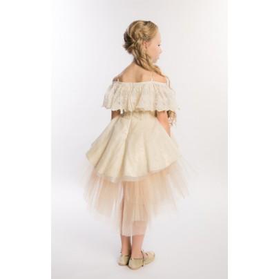 Золотое платье с крупными цветами