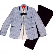 Сине-голубой нарядный костюм для мальчика