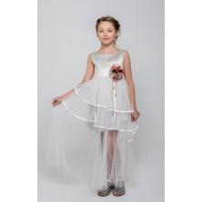 Платье с длинной прозрачной юбкой