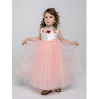 Платье с цветами в нагрудном кармане