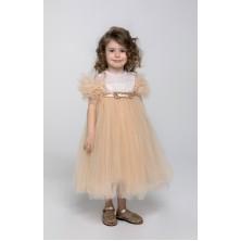 Бежевое платье для маленькой девочки