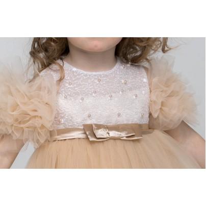 Платье для маленькой девочки бежевого цвета