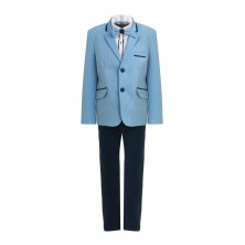 Костюм голубого пиджака, брюк , бабочки и  рубашки с длинным рукавом