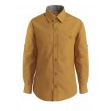 Горчичная  рубашка для мальчика с длинным рукавом