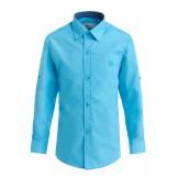 Бирюзовая рубашка для мальчика с длинным рукавом
