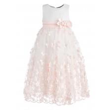 Вечернее нарядное платье с объемными цветами