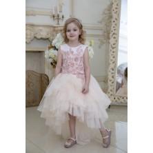 Бальное платье с обьемными цветами