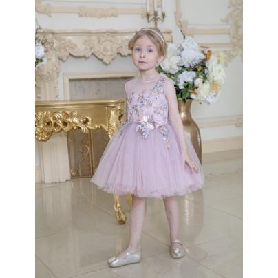 Бальное платье для девочки с цветами