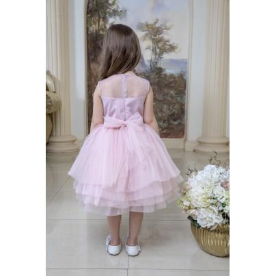 Платье  с цветочной композицией на поясе