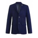Школьный пиджак синего цвета