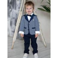 Костюм для мальчика с пиджаком, синий