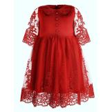 Платье нарядное с рукавом 3/4 красное