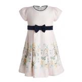 Платье нарядное с кошкой розовое