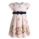 Милое платье с мишками розовое