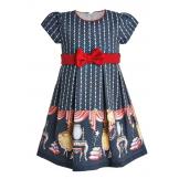 """Платье """"маленькая принцесса"""" темно-серое"""